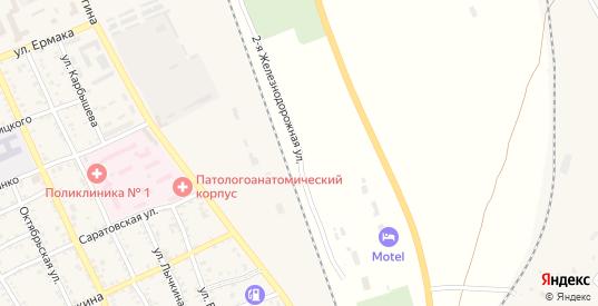 Железнодорожная улица в Ахтубинске с номерами домов на карте. Спутник и схема онлайн