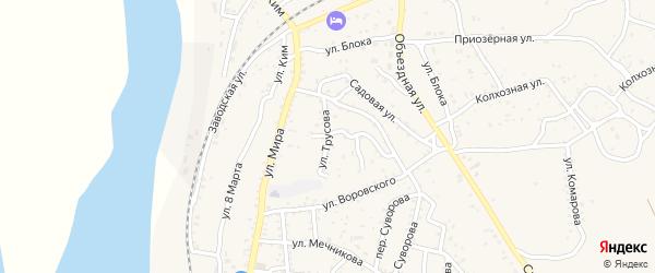 Улица Трусова на карте Ахтубинска с номерами домов