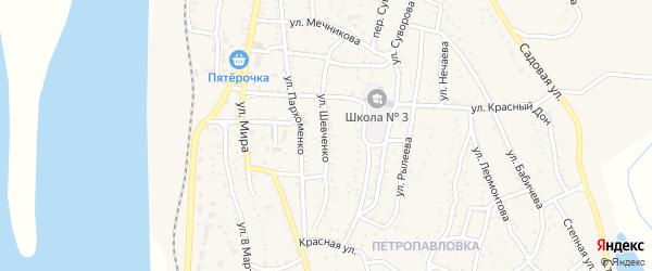 Улица Шевченко на карте Ахтубинска с номерами домов