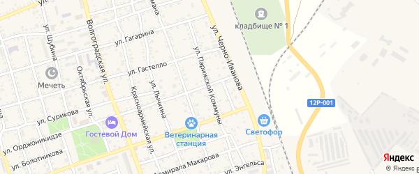 Улица Парижской Коммуны на карте Ахтубинска с номерами домов