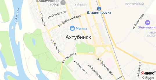 СТ СОТ Солнечный на карте Ахтубинска с номерами домов