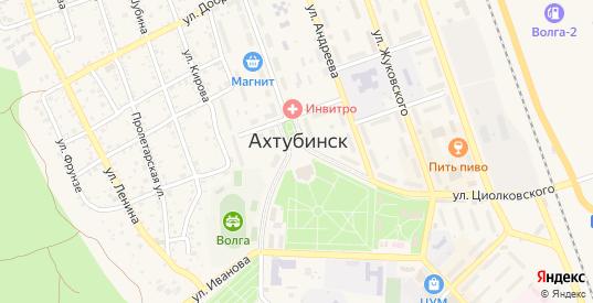 Переулок Чайковского в Ахтубинске с номерами домов на карте. Спутник и схема онлайн