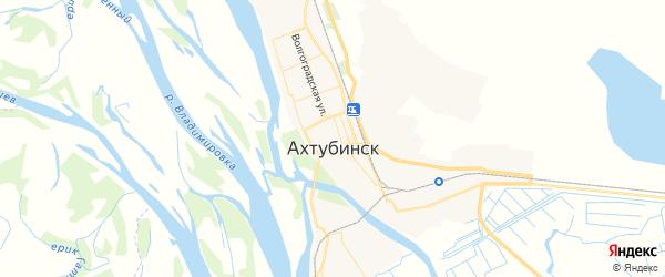 Карта Ахтубинска с районами, улицами и номерами домов: Ахтубинск на карте России
