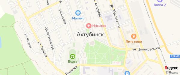 Бетонная улица на карте Ахтубинска с номерами домов