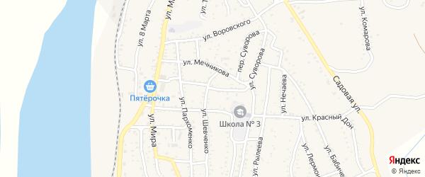 Улица Папанина на карте Ахтубинска с номерами домов