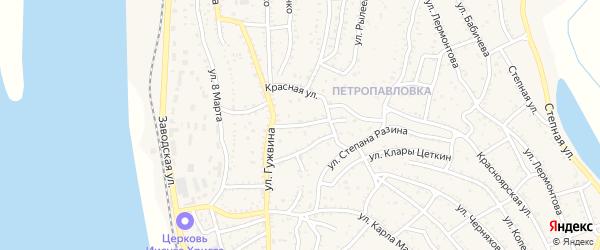 Красный переулок на карте Ахтубинска с номерами домов