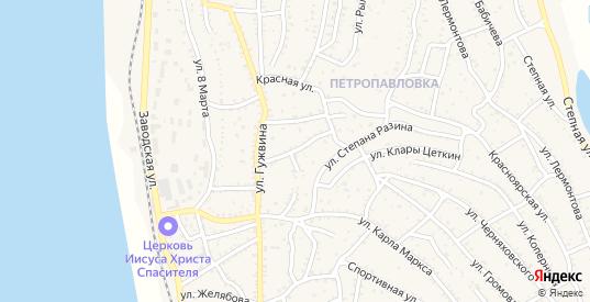 Улица Пугачева в Ахтубинске с номерами домов на карте. Спутник и схема онлайн