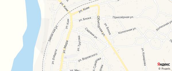 Улица Фурманова на карте Ахтубинска с номерами домов