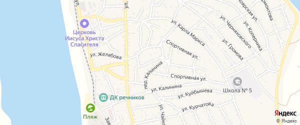 Улица Глинки на карте Ахтубинска с номерами домов