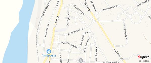 Улица Воровского на карте Ахтубинска с номерами домов