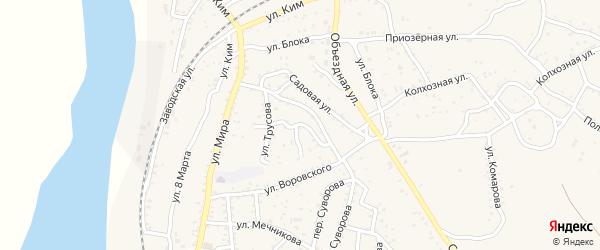 Улица Репина на карте Ахтубинска с номерами домов