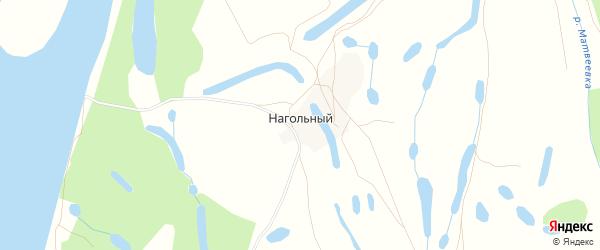 Карта Нагольного хутора в Астраханской области с улицами и номерами домов