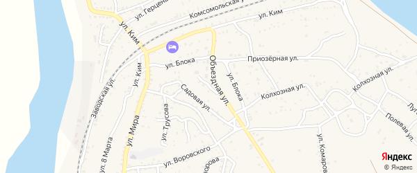 Тополиная улица на карте Ахтубинска с номерами домов