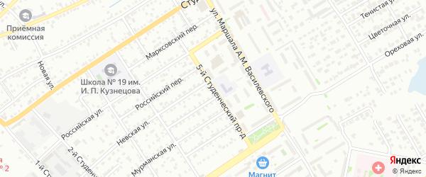 Студенческий проезд на карте Энгельса с номерами домов