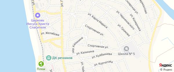 Спортивная площадь на карте Ахтубинска с номерами домов