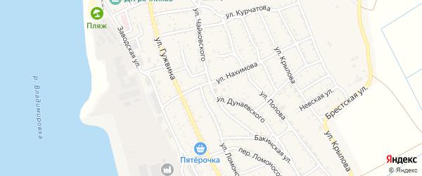 Улица Чайковского на карте Ахтубинска с номерами домов