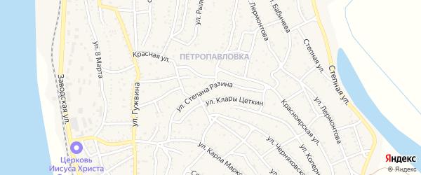 Улица Ст.Разина на карте Ахтубинска с номерами домов