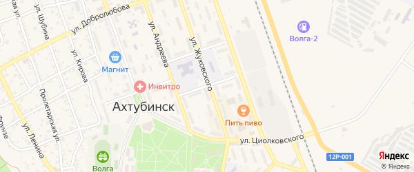 Школьный переулок на карте Ахтубинска с номерами домов