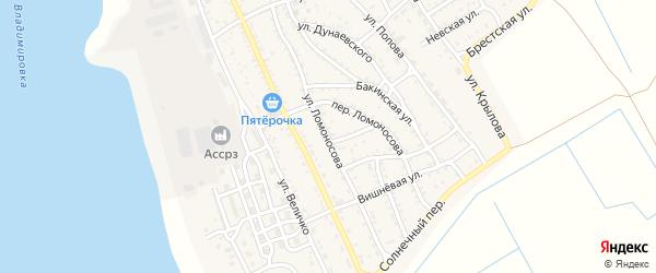 Улица Ломоносова на карте Ахтубинска с номерами домов