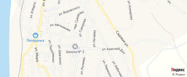 Улица Нечаева на карте Ахтубинска с номерами домов