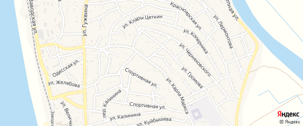 Улица К.Маркса на карте Ахтубинска с номерами домов