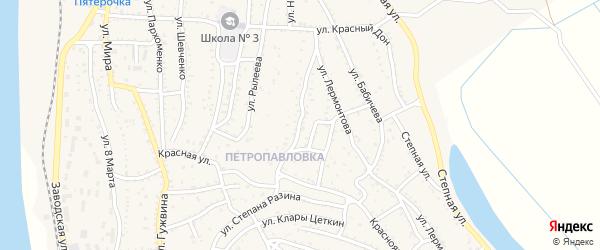 Улица Толстого на карте Ахтубинска с номерами домов