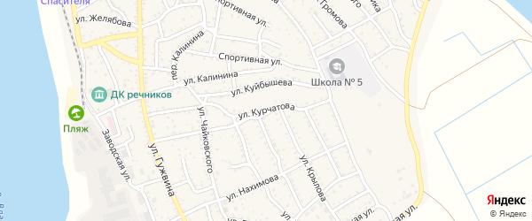 Улица Курчатова на карте Ахтубинска с номерами домов