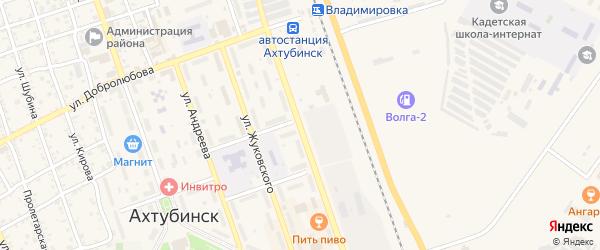 Улица Черно-Иванова на карте Ахтубинска с номерами домов