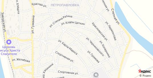 Переулок Громова в Ахтубинске с номерами домов на карте. Спутник и схема онлайн