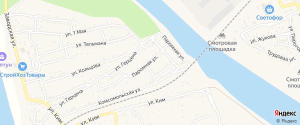 Паромная улица на карте Ахтубинска с номерами домов