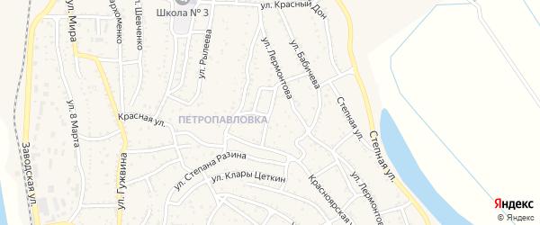 Переулок Толстого на карте Ахтубинска с номерами домов