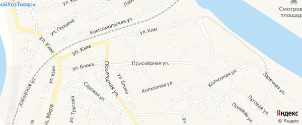 Приозерная улица на карте Ахтубинска с номерами домов