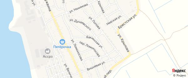Бакинская улица на карте Ахтубинска с номерами домов
