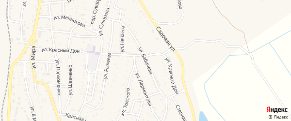 Улица Бабичева на карте Ахтубинска с номерами домов