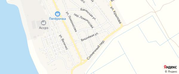 Вишневая улица на карте Ахтубинска с номерами домов
