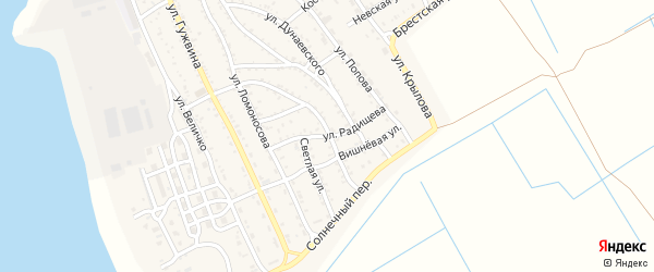 Улица Радищева на карте Ахтубинска с номерами домов