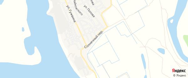 Садовое товарищество СОТ Солнечный на карте Ахтубинска с номерами домов