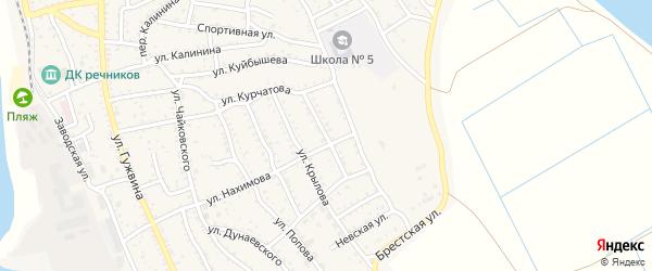 Улица З.Космодемьянской на карте Ахтубинска с номерами домов