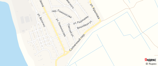 Солнечная улица на карте Ахтубинска с номерами домов