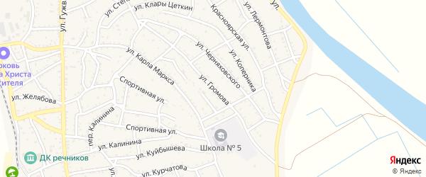 Улица Громова на карте Ахтубинска с номерами домов