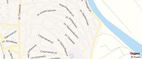 Улица Черняховского на карте Ахтубинска с номерами домов