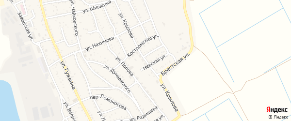 Улица Крылова на карте Ахтубинска с номерами домов