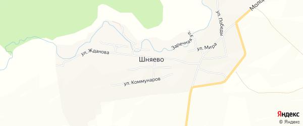 Карта села Шняево в Саратовской области с улицами и номерами домов
