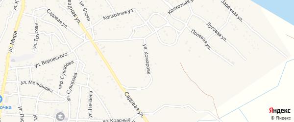 Улица Комарова на карте Ахтубинска с номерами домов