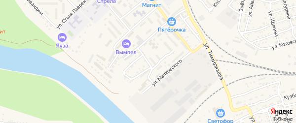 Подгорная улица на карте Ахтубинска с номерами домов