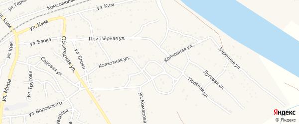 Колхозная улица на карте поселка Джелги с номерами домов