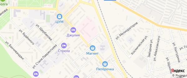 Переулок Строителей на карте Ахтубинска с номерами домов