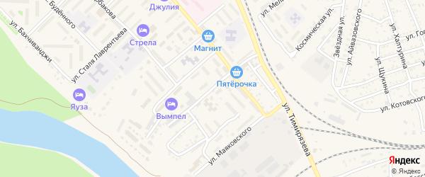 Улица Пестеля на карте Ахтубинска с номерами домов