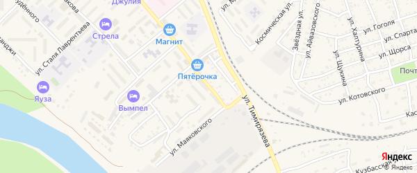 Ленинградская улица на карте Ахтубинска с номерами домов