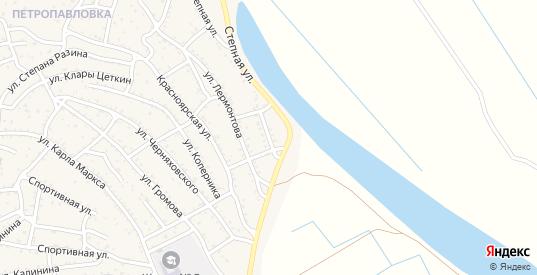 Степной переулок в Ахтубинске с номерами домов на карте. Спутник и схема онлайн